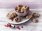 Oat cookies with cranberries and chia seeds