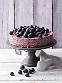 Blueberry and cashew cake