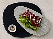 Beef fillet tataki with mirin and soy sauce