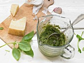 Light pesto (basic recipe)