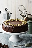 Chocolate cake with pistachio