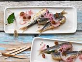 Sarde alla Veneziana (Venetian style sardines, Italy)