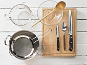 Kitchen utensils for preparing beans