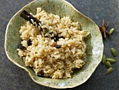 Aromatic brown rice with star anise and cinnamon