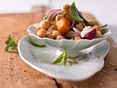 Warm pumpkin and chickpea salad