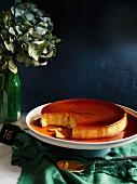 Latin American flan de queso