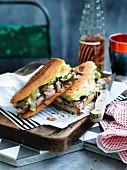 Kubanisches Sandwich mit geröstetem Schinken und Käse