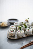 Sushi with pickled vegetables
