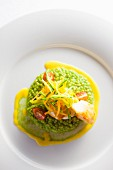 Pearl barley risotto with julienne vegetables