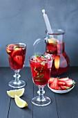 Home-made strawberry lemonade