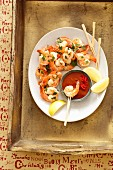 Prawns with Mexican mole sauce