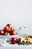 Apples and cheese board