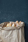 Baguettes in a paper bag, Paris, France