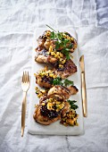 Grilled chicken with a sweetcorn and chilli salsa