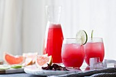 Hibiscus ginger palomas, Cocktail, cousin to the margarita