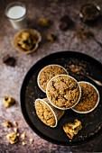 Glutenfreie Muffins mit Haferflocken, Reismehl und Giandujastückchen