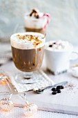 Hot chocolate and various coffee drinks for Christmas