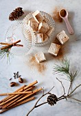 Aromatic eggnog marshmallows
