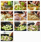 How to make a pollock fillet with fried romanesco and olives