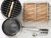 Kitchen utensils for preparing grilled fish