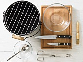 Kitchen utensils for grilling vegetables
