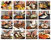 Auberginen-Cannelloni zubereiten