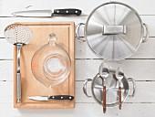 Kitchen utensils for preparing leeks