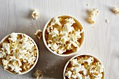Homemade salty popcorn
