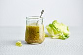 Low-calorie orange and Dijon mustard dressing with agave syrup