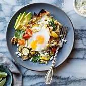 Summer vegetable baked chilaquiles
