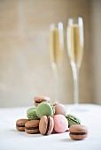 Macaroons and champagne