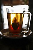 Infusion of tea in a cup