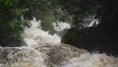 Water rapids, slow motion