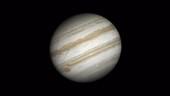 Jupiter rotating, time-lapse