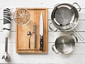 Kitchen utensils for making vegetable purees