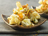 Polish style cauliflower with egg, lemon and breadcrumbs