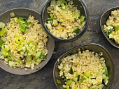 Quinoa with leeks and fennel