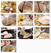 Gebratene Zanderfilets mit Meerrettichsauce zubereiten