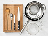 Küchenutensilien für Nudelgericht