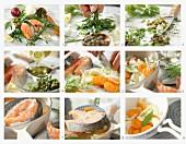 Gedünstete Lachssteaks mit Estragon-Salsa-Verde zubereiten