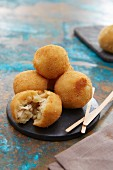 Coxinhas (stuffed dumplings, Brazil)