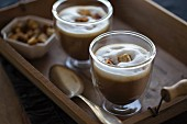 Chestnut soup with milk froth and croutons (chestnut cappuccino)
