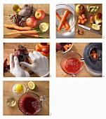 How to make carrot and apple juice with beetroot