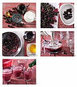 How to make a kefir drink with blackcurrants