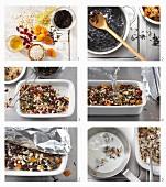 Wildreis Porridge mit Hafer, Bulgur und Graupen zubereiten