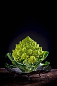 Romanesco on a metal plate