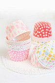 Cake cases with polka dots