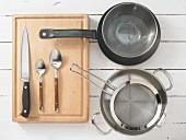 Kitchen utensils for making stuffed turkey rolls