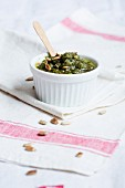 Green pesto with pine nuts