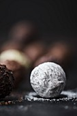 Chocolate truffles (close up)